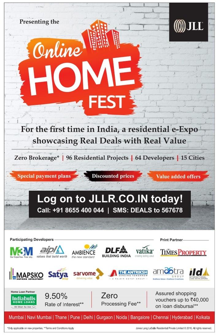 JLL Online Home Fest Advertisement