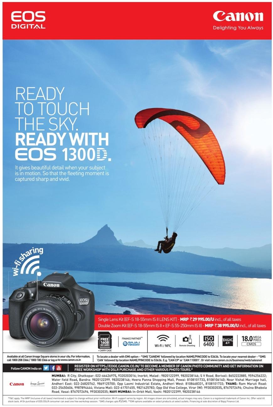 Canon EOS 1300 Digital Advertisement