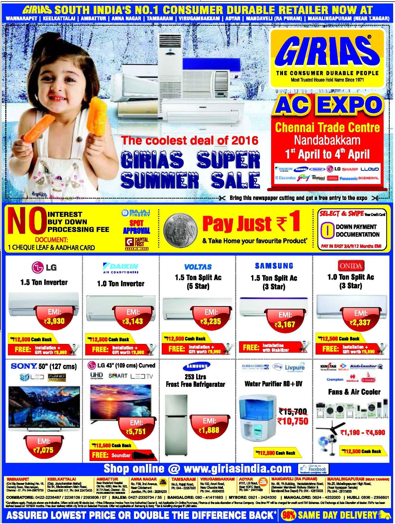 Girias Electronics Advertisement