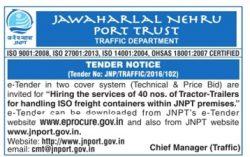 Jawaharlal Nehru Port Trust Tender Notice Ad