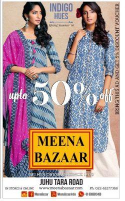 Meena Bazaar Indigo Hues Mumbai Advertisement
