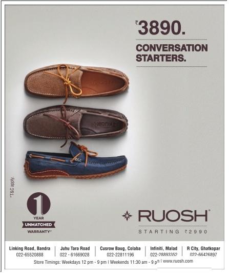 8c373da26cd4 Ruosh Footwear Advertisement - Advert Gallery