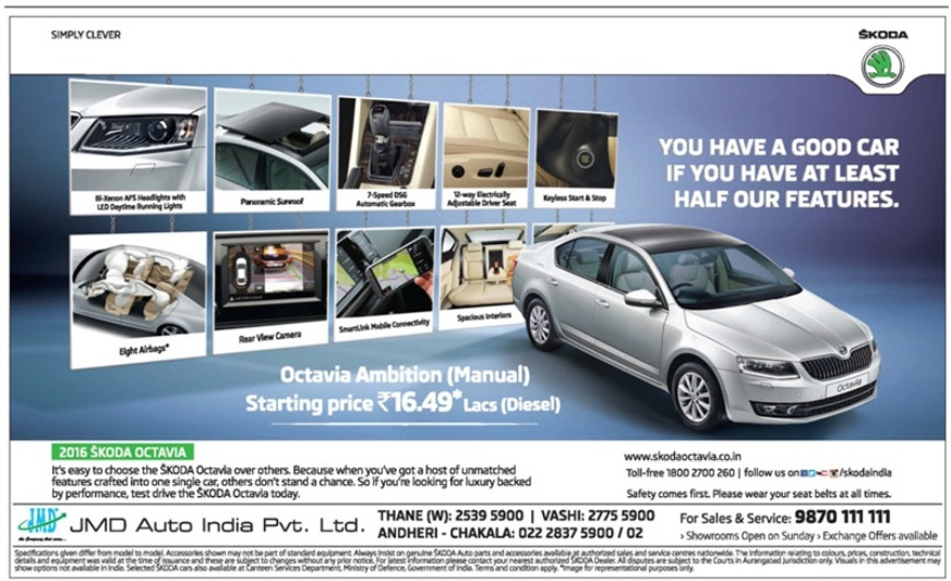 Skoda Octavia Car Advertisement Advert Gallery