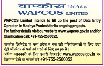 WAPCOS Limited Advertisement