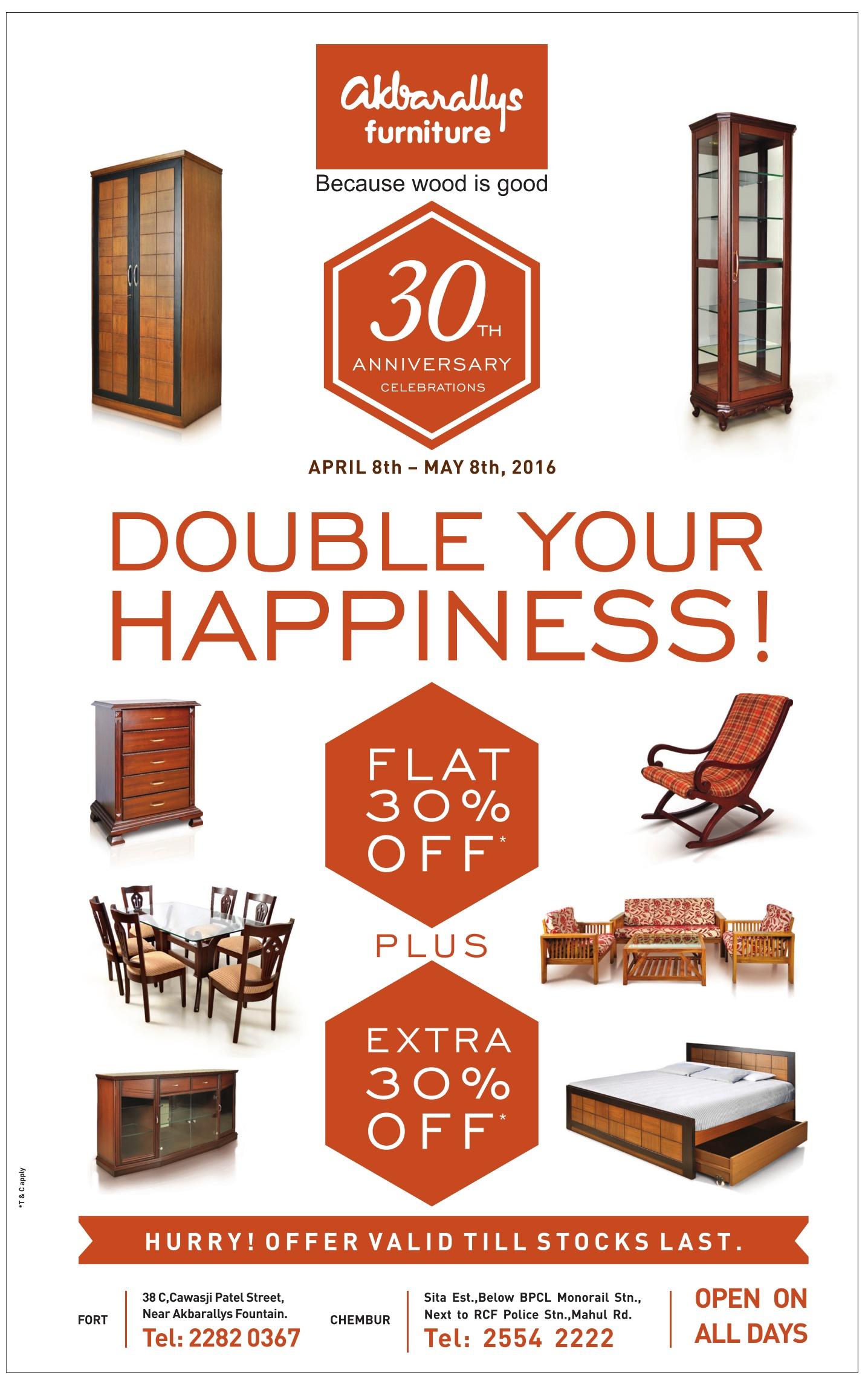 Perfect Akbarallys Furniture Advertisement In TOI Mumbai