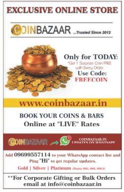 Coin Bazar Advertisement in TOI Mumbai