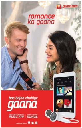 Gaana.com Advertisement in TOI Newspaper