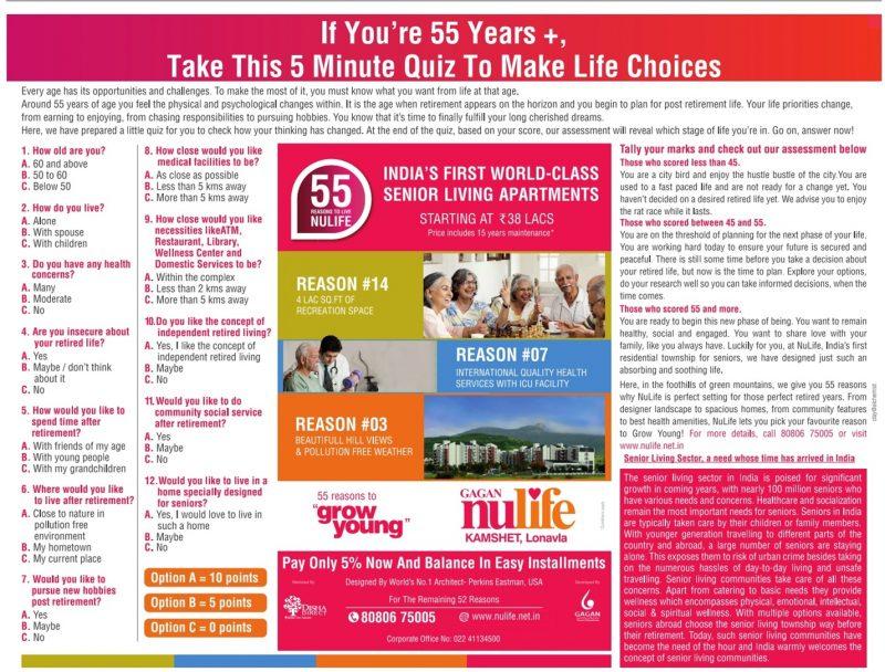 Gagan Nulife Advertisement in TOI Mumbai