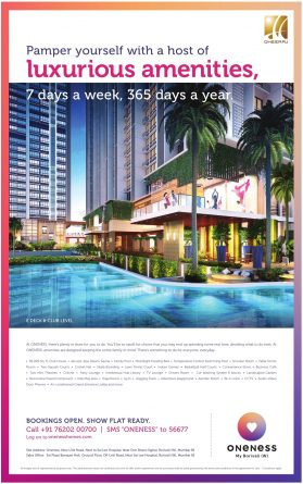 Oneness Flat for Sale Advertisement in TOI Mumbai
