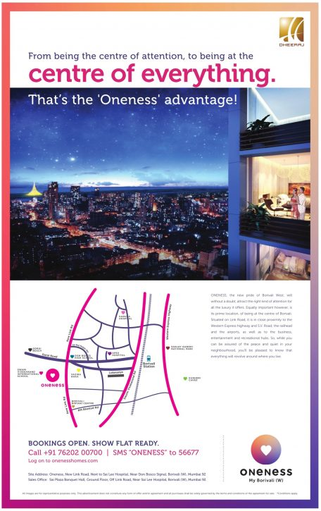 Oneness Flats Advertisement in TOI Mumbai