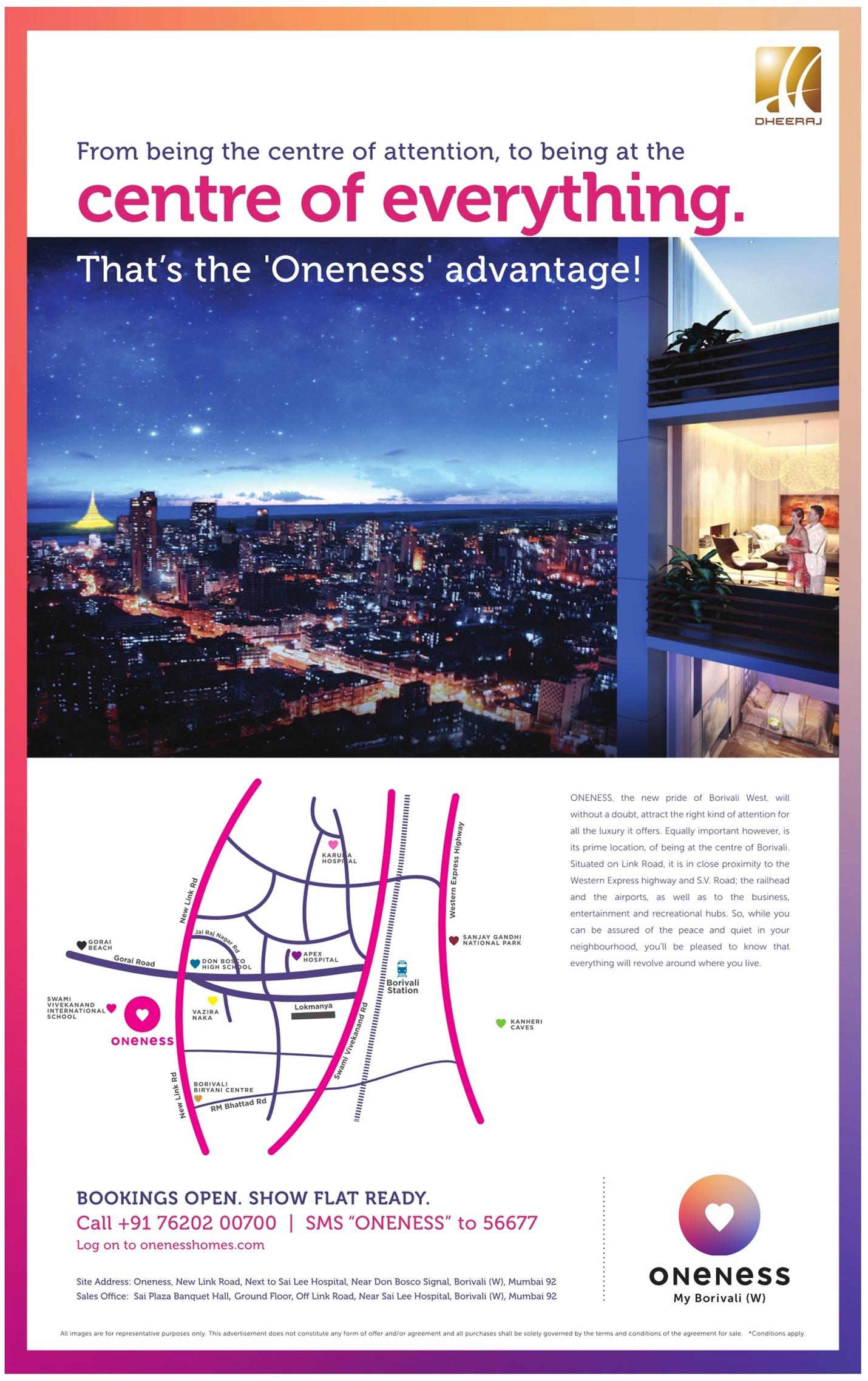 Oneness Flats Advertisement