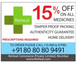 RxHeal Advertisement in TOI Mumbai