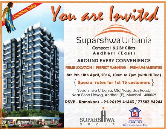 Suparshwa Group Advertisement in TOI Mumbai