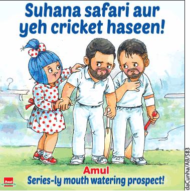Amul Butter Suhana Safari Aur Yeh Cricket Haseen Ad