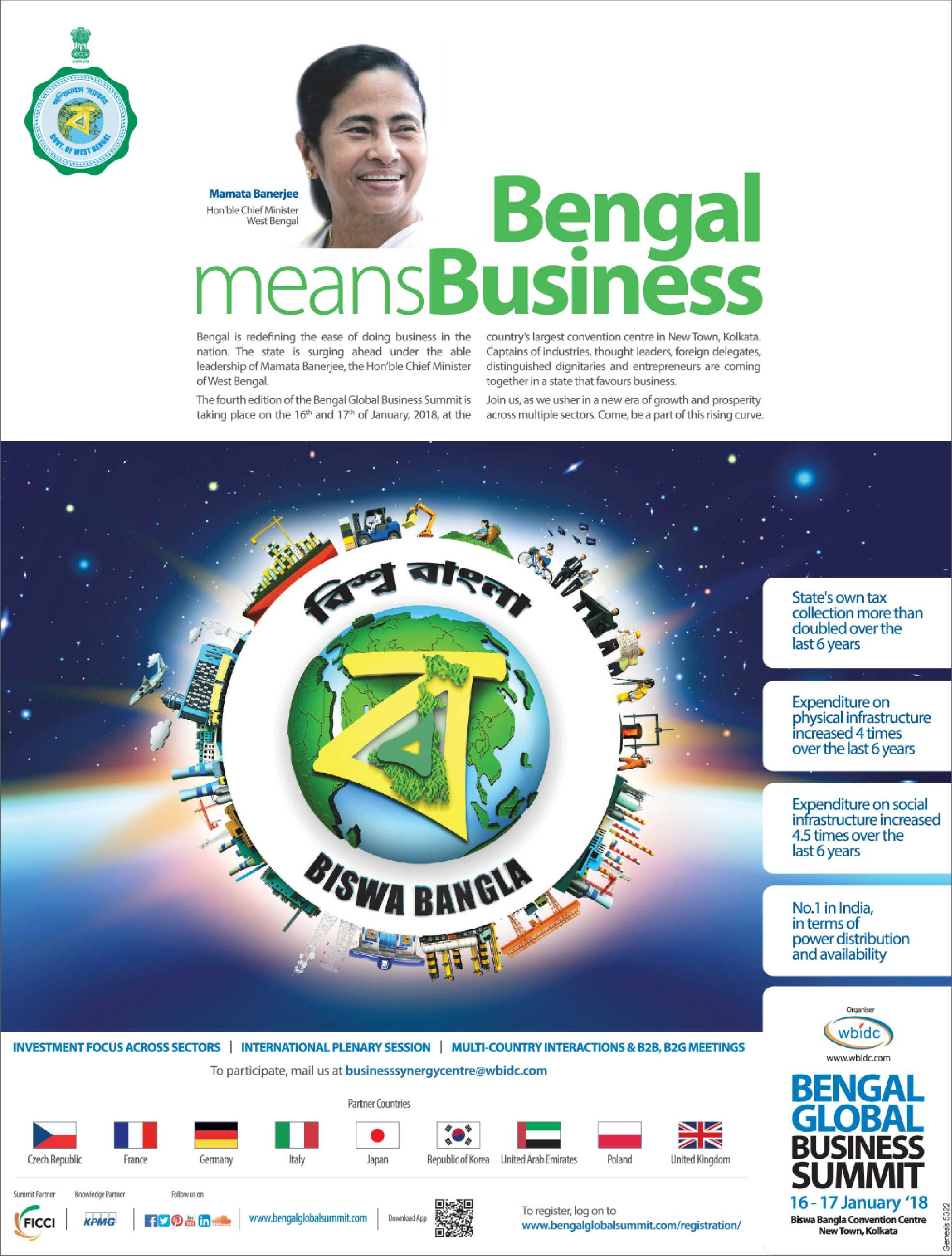 Bangal Means Business Bengal Global Business Summit Ad