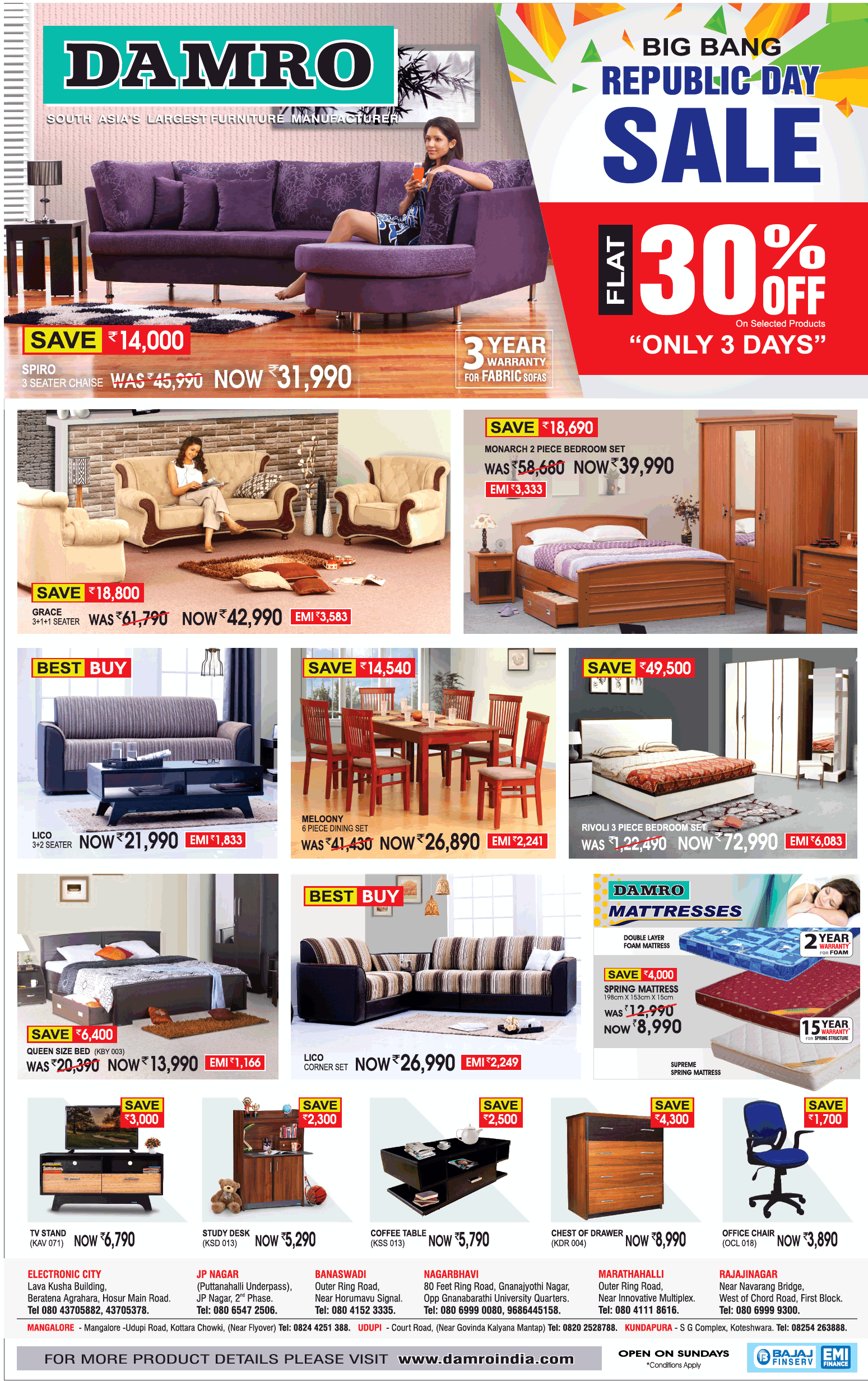 Advertisement Collection published in Bangalore Times Newspaper