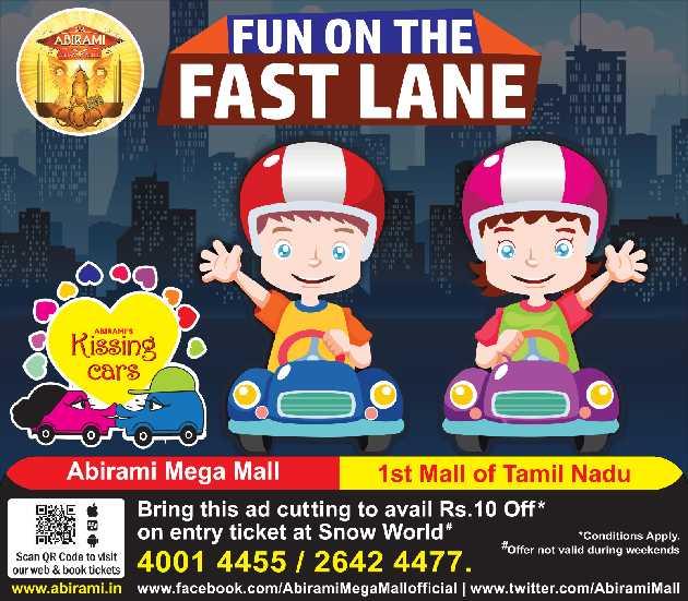 Fun On The Fast Lane Abirami Mega Mall 1St Mall Of Tamil