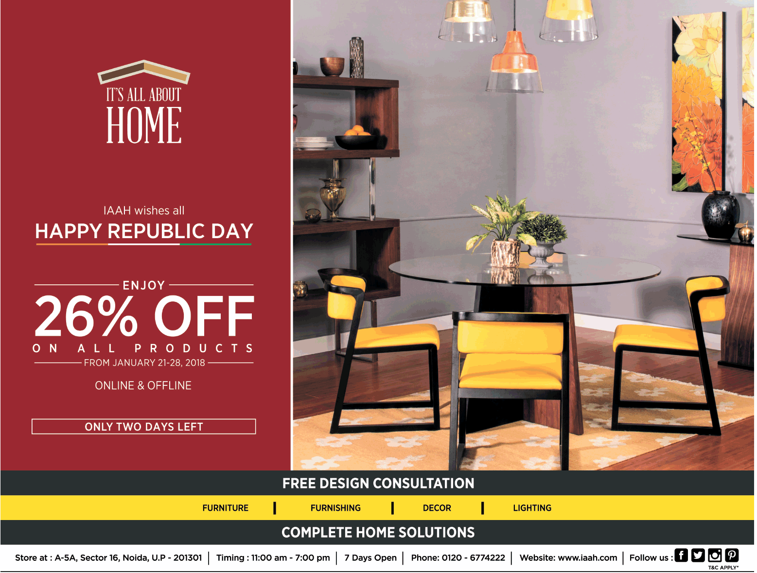 Furniture Advertisement Published In Newspaper Advert Gallery