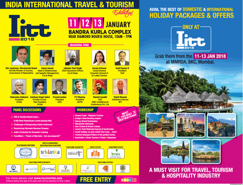 India International Travel And Tourism Holiday Packages And Offers Ad