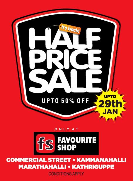 Its Back Half Price Sale Upto 50% Off Upto 29Th Jan Ad