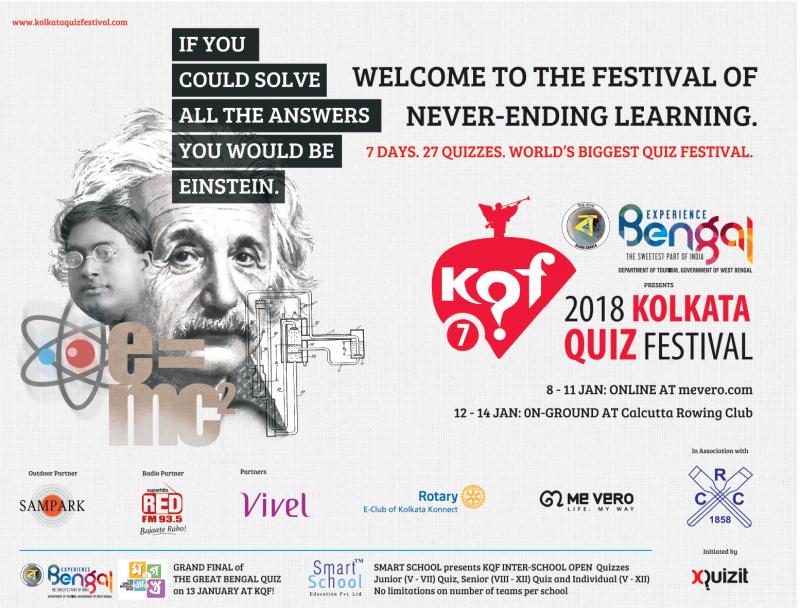 Kof 7 2018 Kolkata Quiz Festival Ad