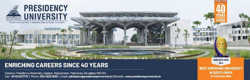 Presidency University Enriching Careers Since 40 Years Ad