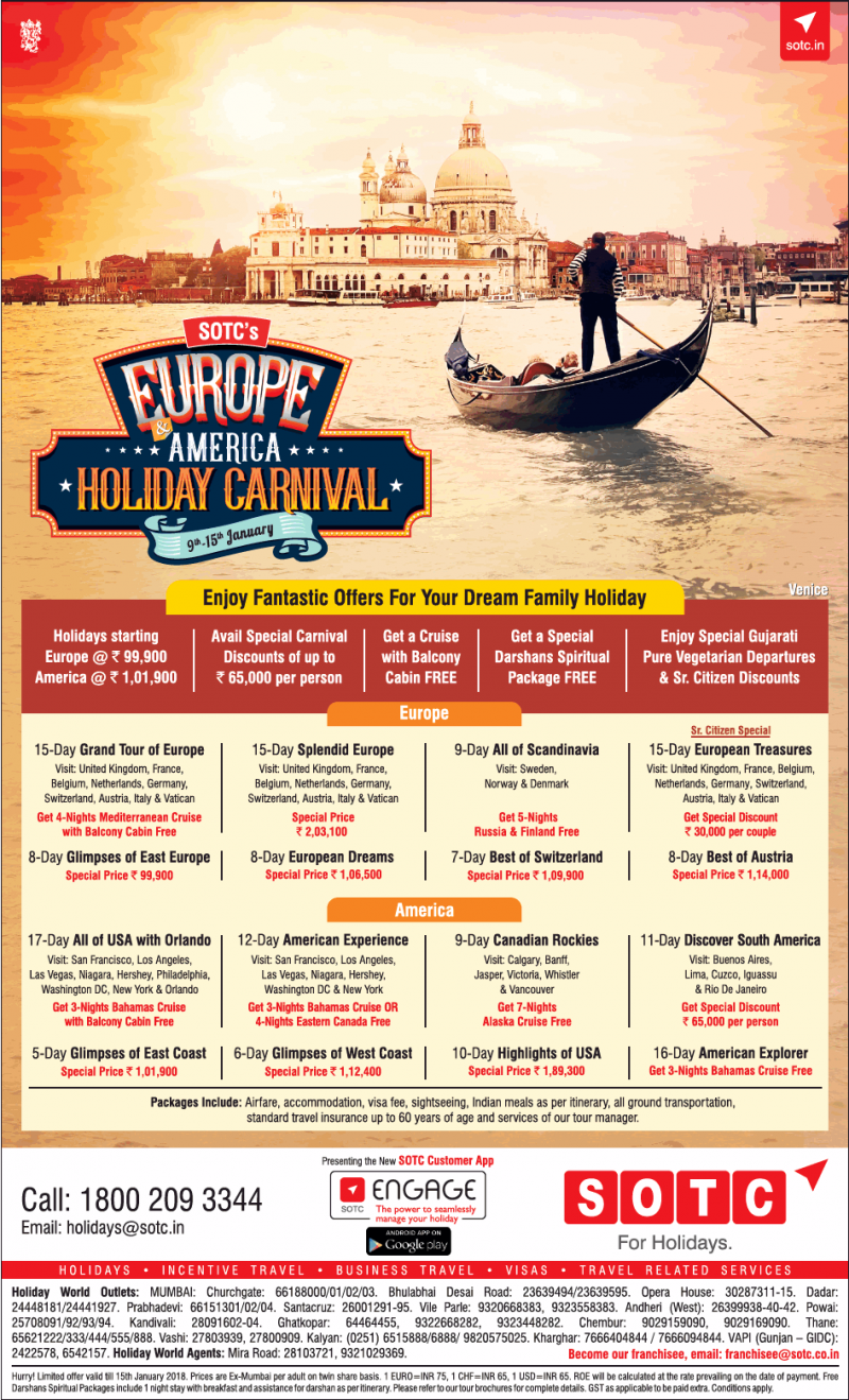 Sotc For Holidays Europe America Holiday Carnival Ad
