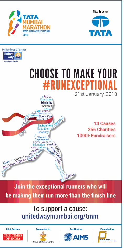 Tata Mumbai Marathon Run Choose To Make Your Run Exceptional Ad