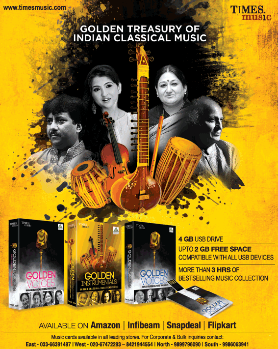 Times Music Golden Treasury Of Indian Classical Music Ad - Advert