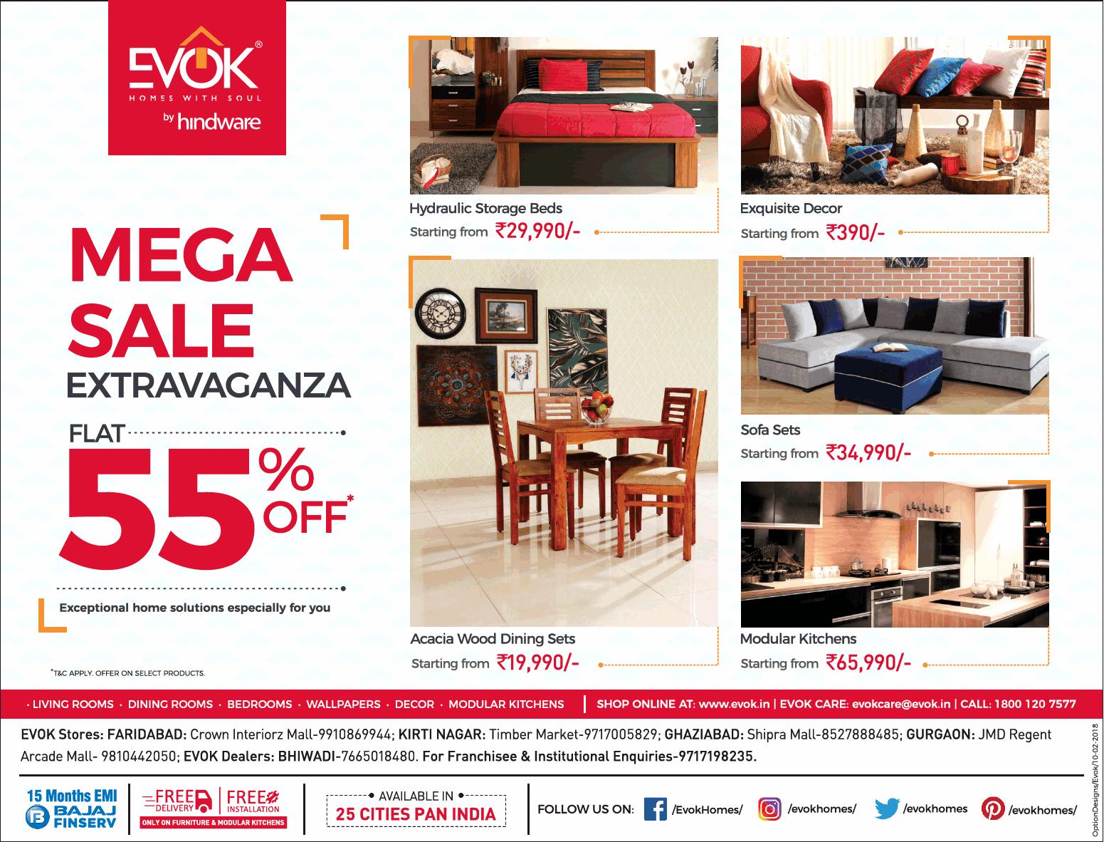 Furniture sale advertisement Weekly Evok Furniture Mega Sale Advert Gallery Evok Furniture Mega Sale Extravaganza Flat 55 Off Ad Advert Gallery