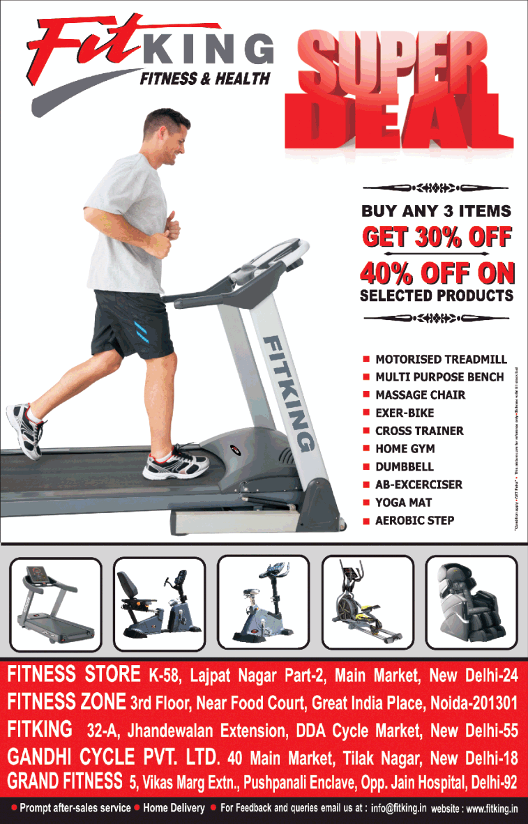 Fitking Fitness And Health Super Deal Buy Any 3 Intems Get 30% Off Ad