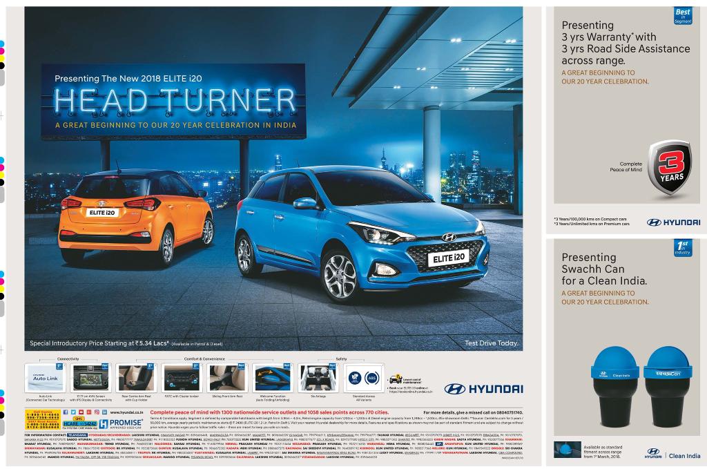 Hyundai Presenting The New 2018 Elite I20 Head Turner Ad
