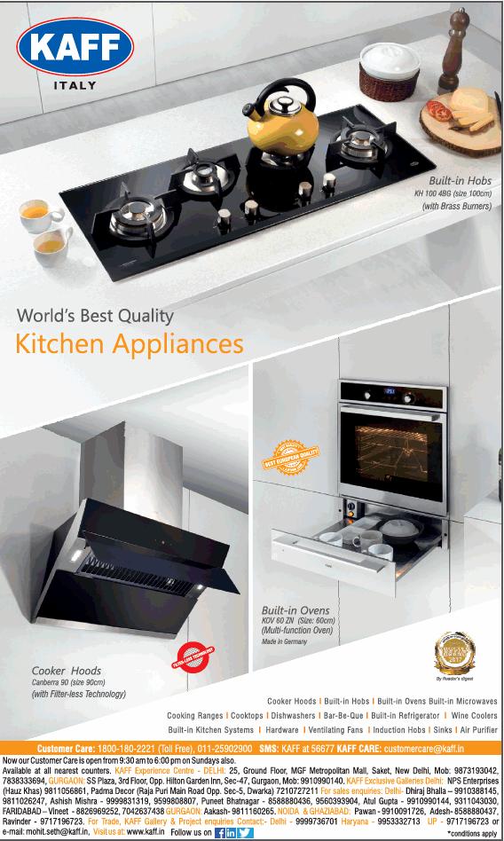 Kaff Italy Worlds Best Quality Kitchen Appliances Ad