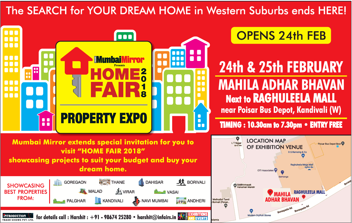 Mumbai Mirror Presents Home Fair 2018 Property Expo Ad Advert Gallery