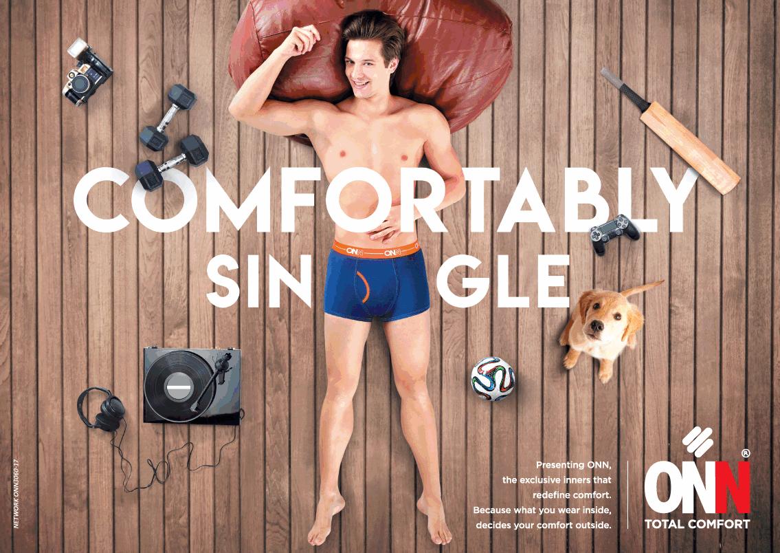 Onn Total Comfort Inner Wears Comfartably Single Ad