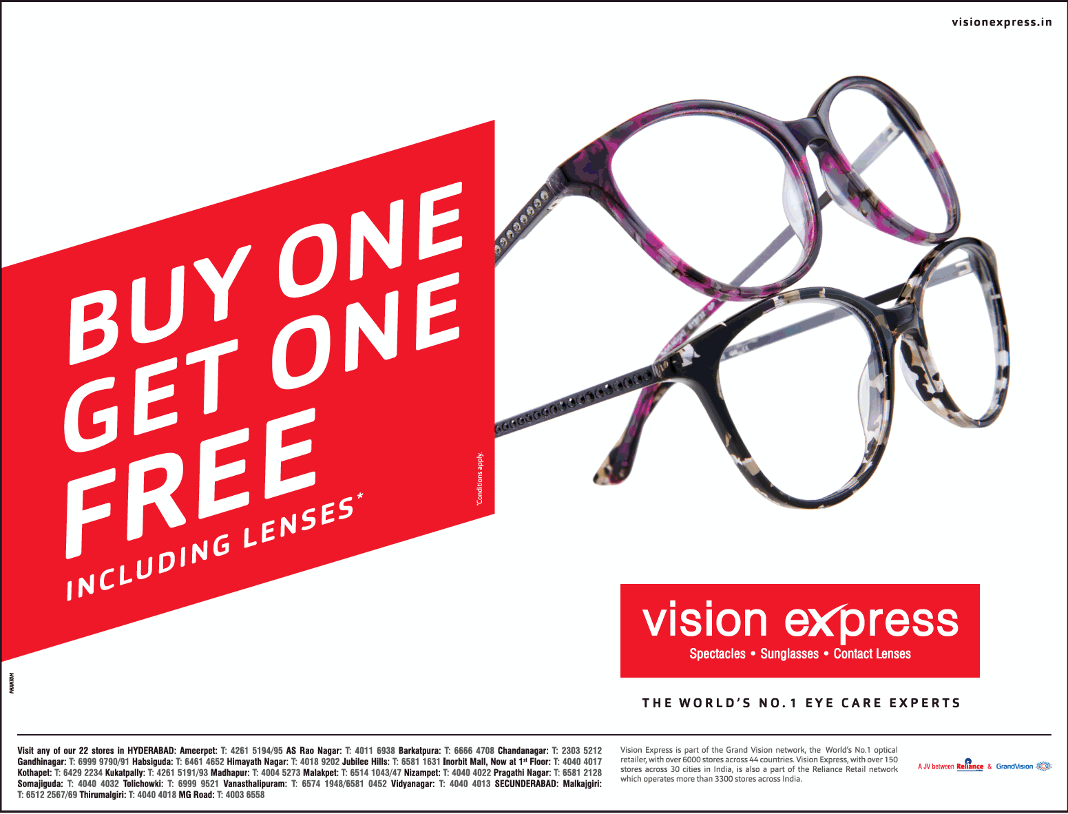 21a935f883 Vision Express The Worlds No 1 Eye Care Experts Buy One Get One Free ...