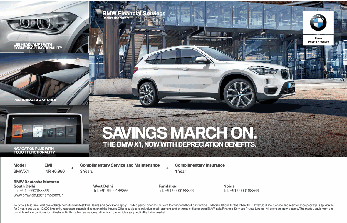 Bmw Financial Services Savings March On Ad - Advert Gallery