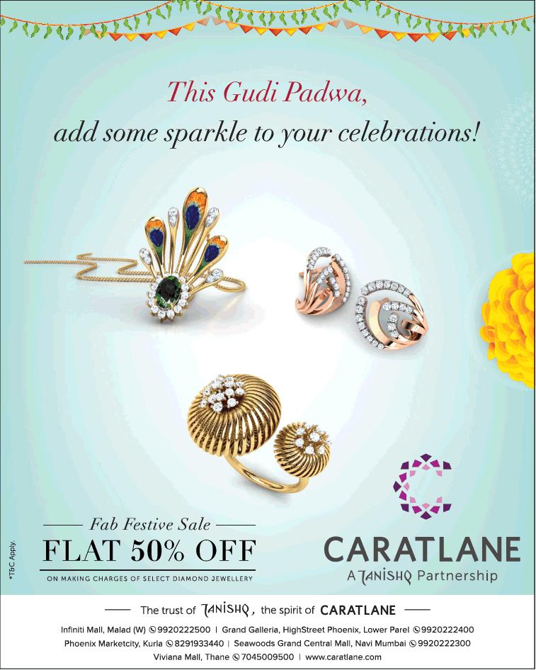 ee7bc02cf79 Caratlane Jewellers A Tanishq Partnership Fab Festive Sale Flat 505 Off Ad