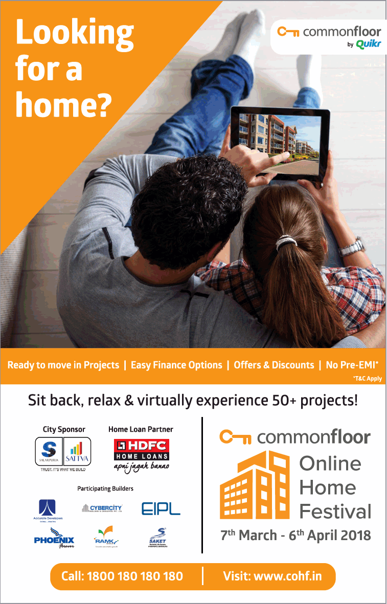 Comman Floor By Quikr Looking For Home Online Home Festival Ad