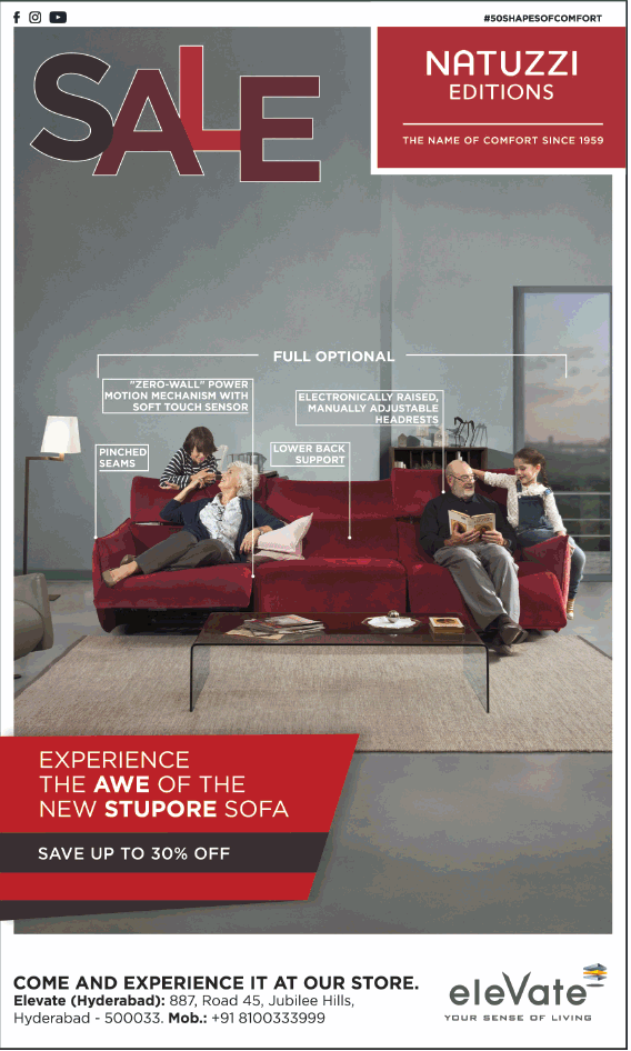 Elevate Sale Natuzzi Editions Experience The Awe Of The New Stupore Sofa Save Up To 30% Off Ad