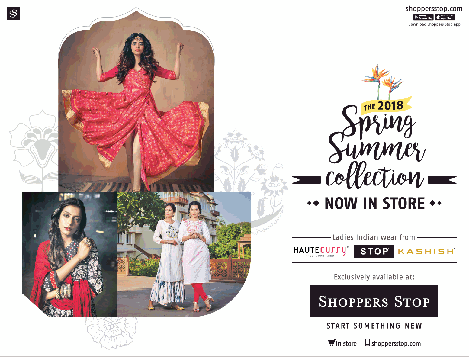 Shoppers Stop The 2018 Spring Summer Collection Now In Store Ad