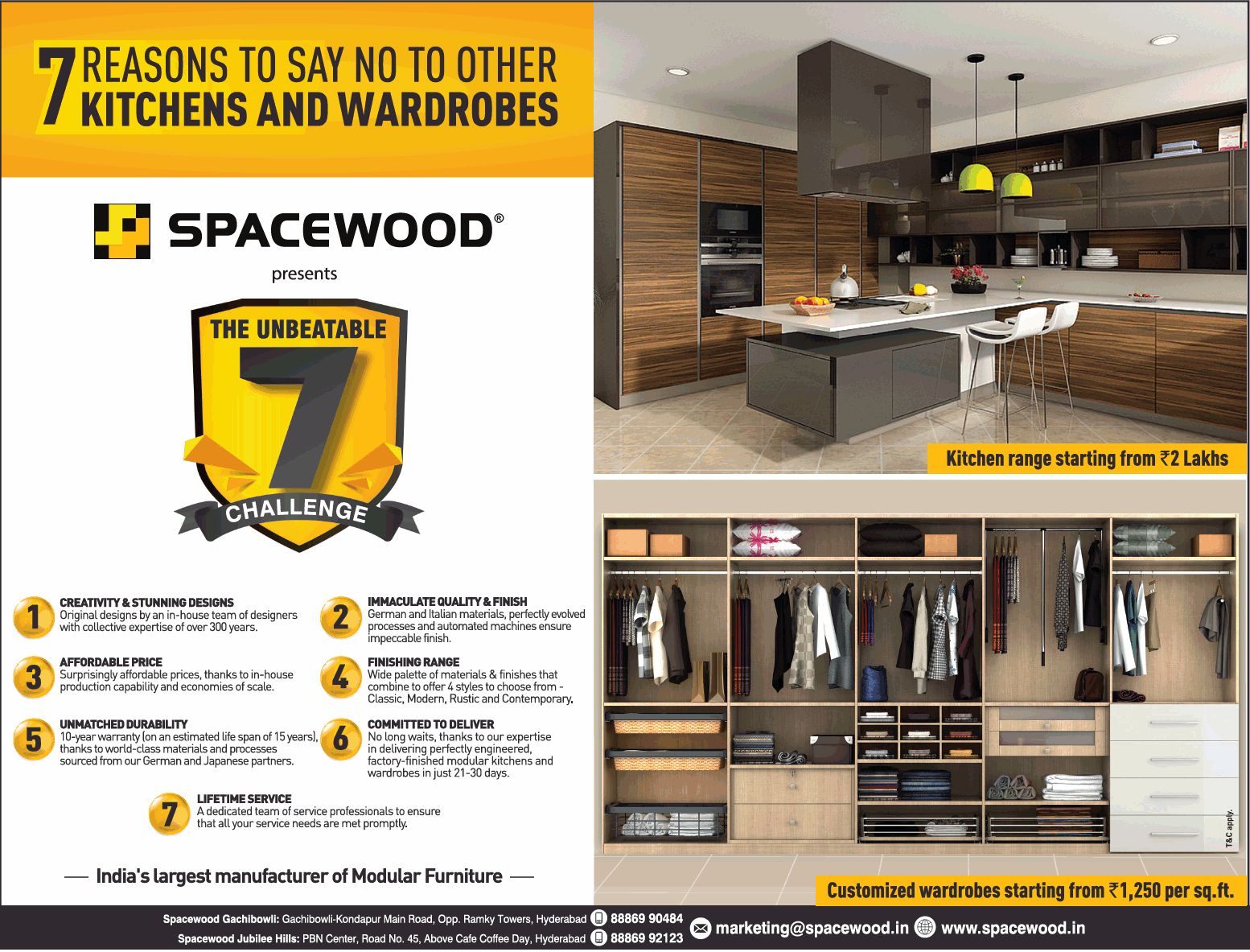 Spacewood 7 Reasons To Say No To Other Kitchens And Wardrobes Ad