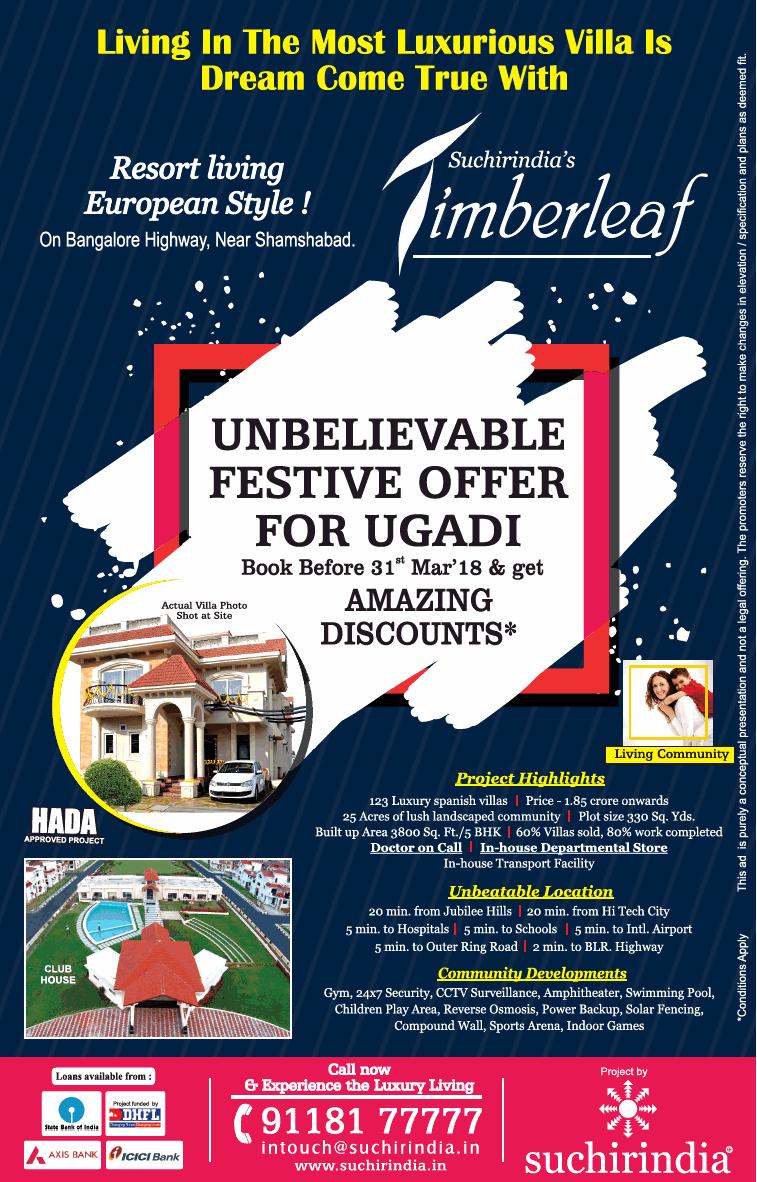 Suchirindia Living In The Most Luxurious Villa Is Dream Come True Suchirindia Timberleaf Ad