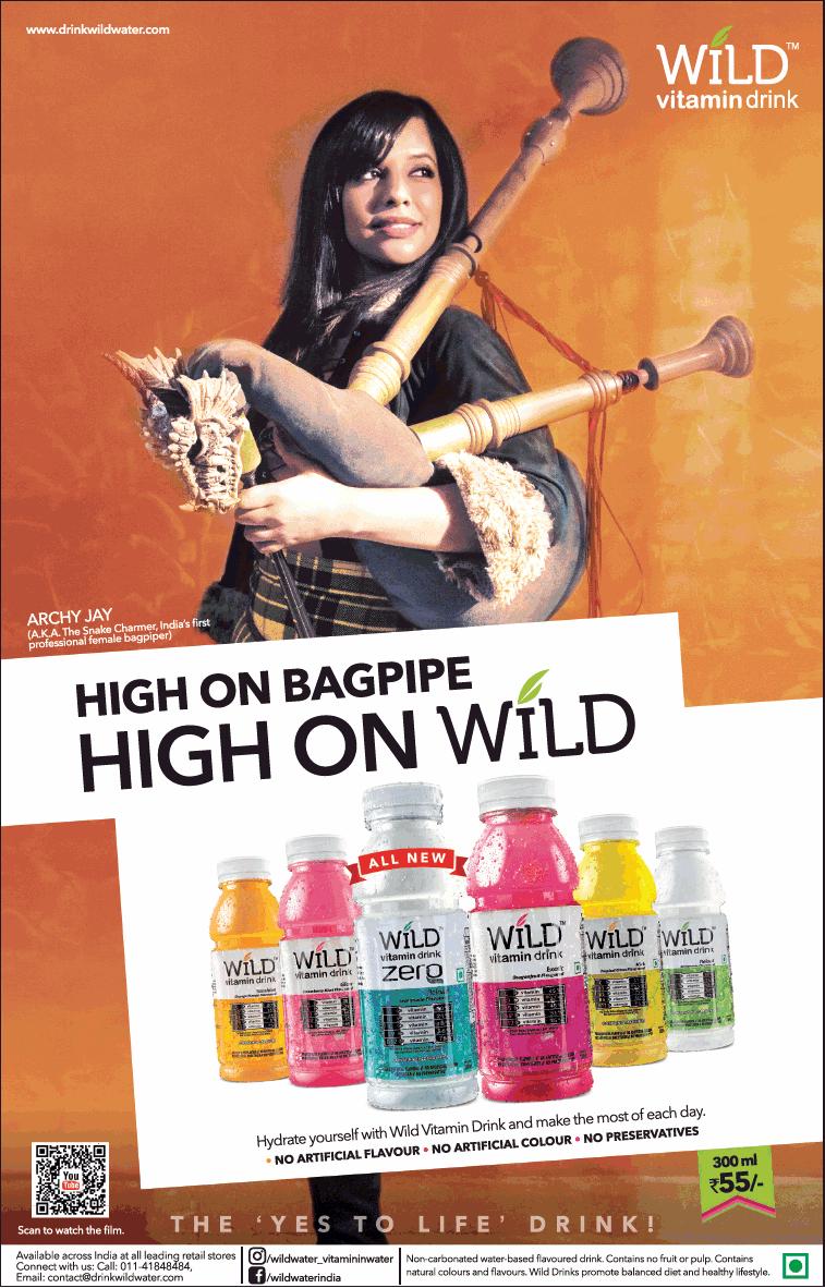 Wild Vitamin Drink High On Bagpipe High On Wild Ad - Advert