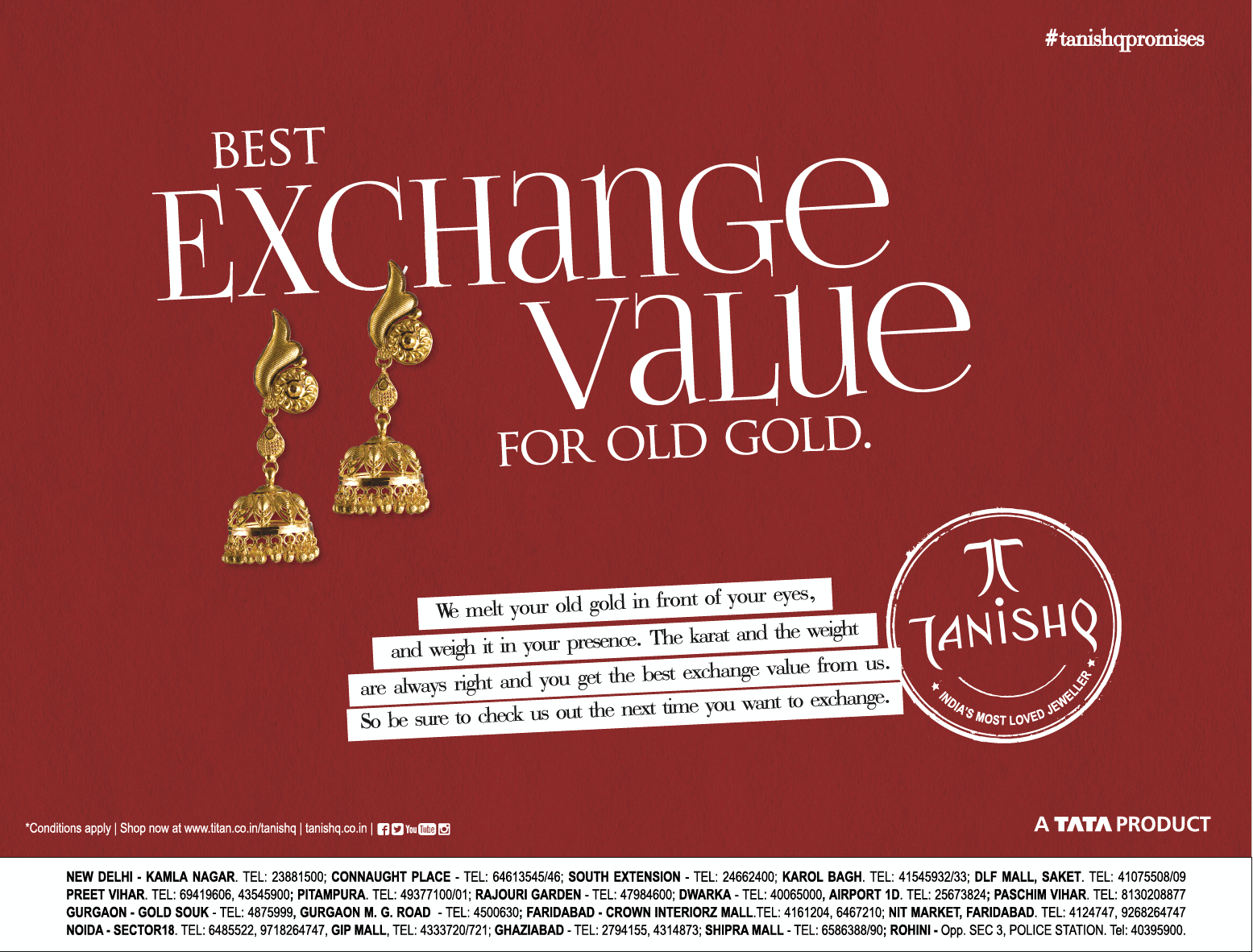 A Tata Product Best Exchange Value For Old Gold Ad