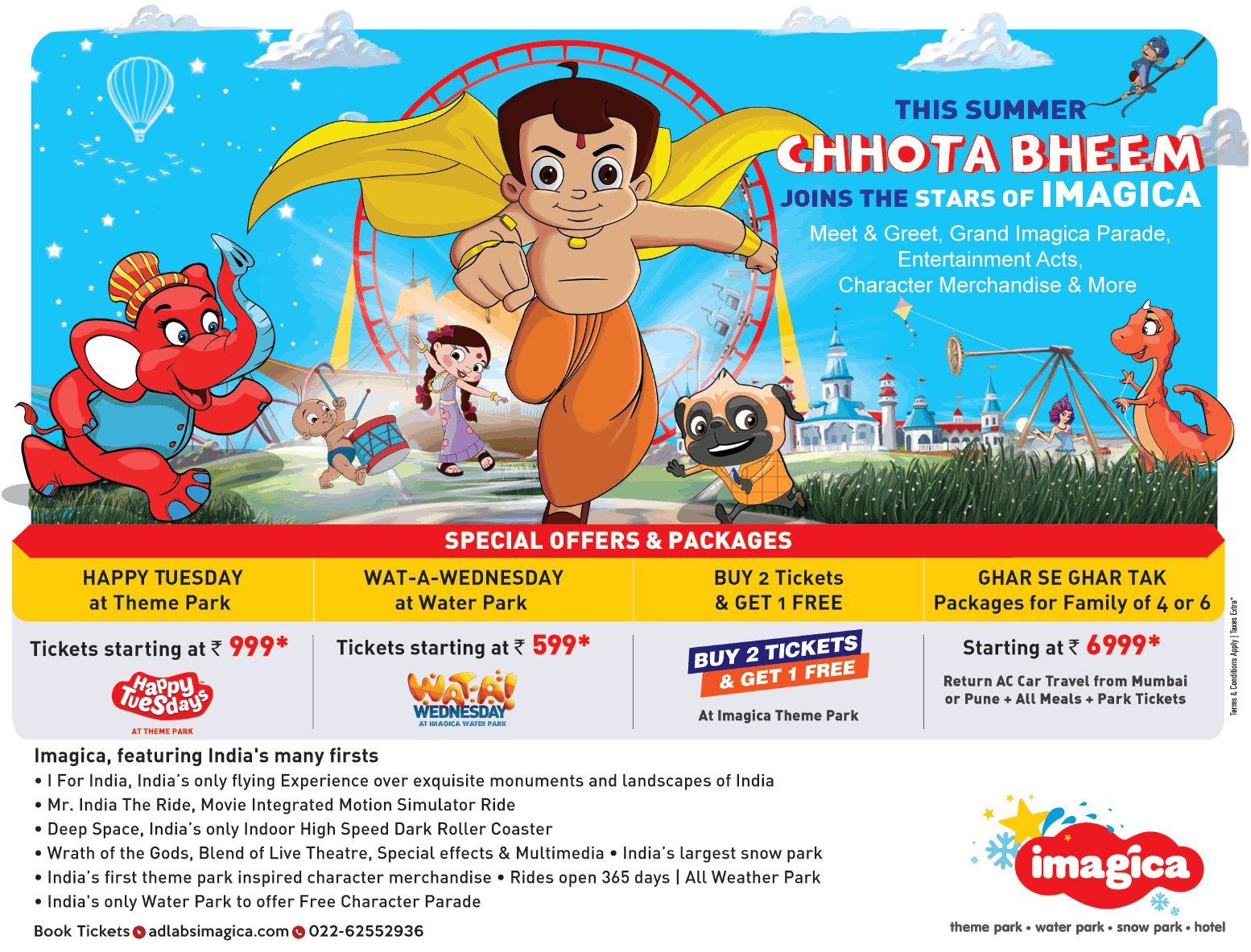 Imagica This Summer Chhota Bheem Join The Stars Of Imagica Ad