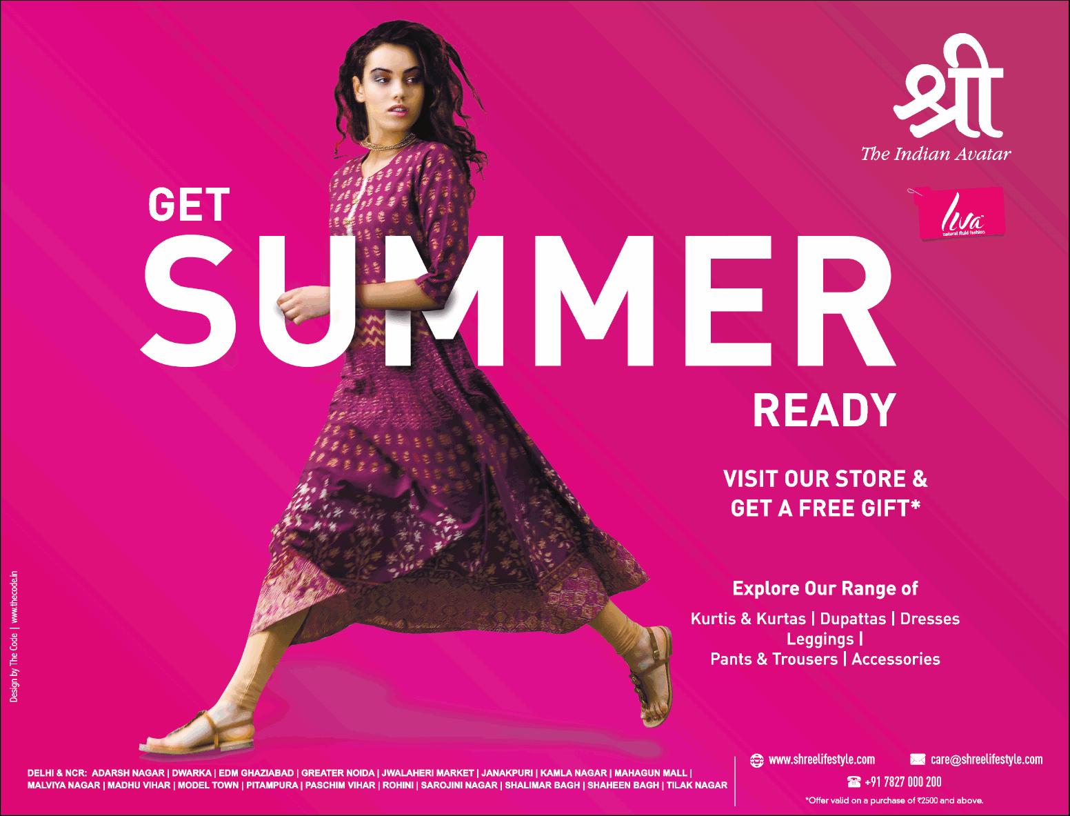 fc10e1258e Shree The Indian Avatar Get Summer Ready Ad - Advert Gallery