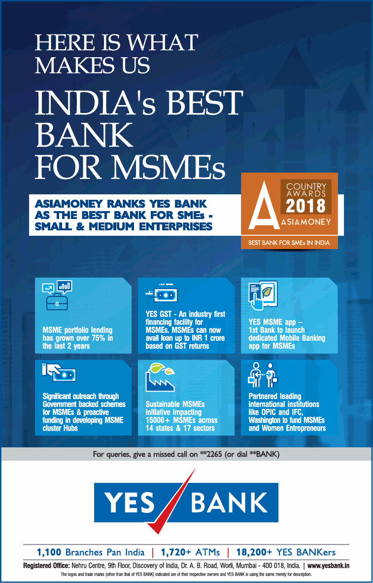 Yes Bank Indias Best Bank For Msmes Ad