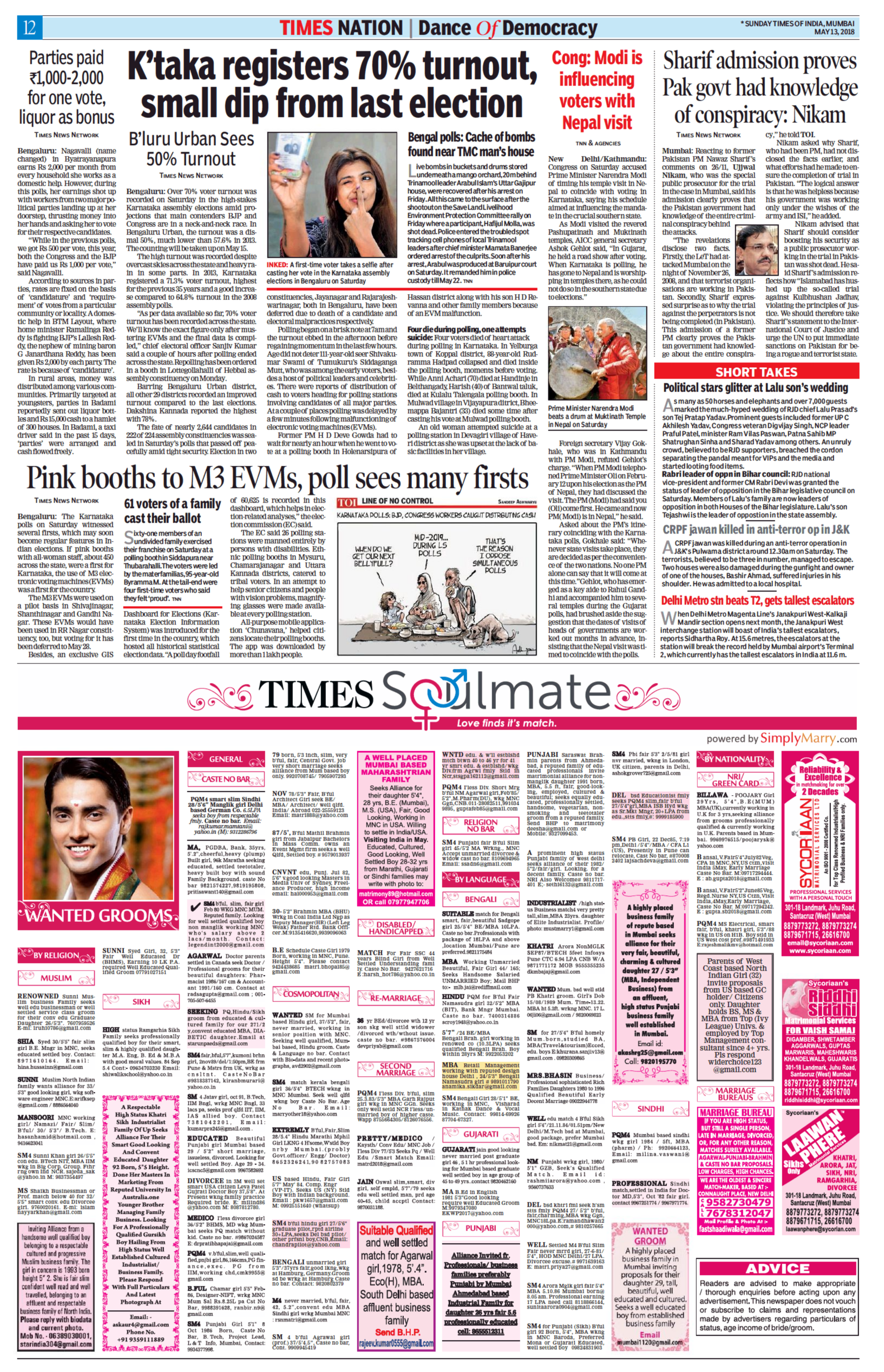 Ad Times Of India Matrimonial Wanted Groom - Advert Gallery