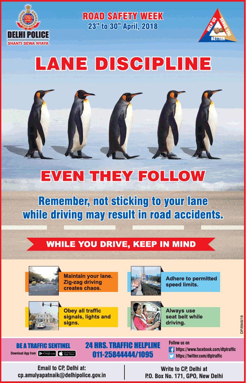 Delhi Police Lane Discipline Even They Follow Ad